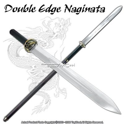 "Double Edge Naginata 62"" Japanese Yari Samurai Sword, ASIN B000E39UY0"