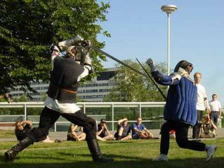 Longsword demonstration at FinnconX in Turku (2003)