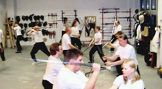 Practising basic longsword drills